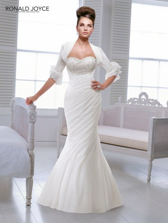 Ronald joyce victoria jane irma chiffon fitted wedding dress for Ronald joyce wedding dresses prices