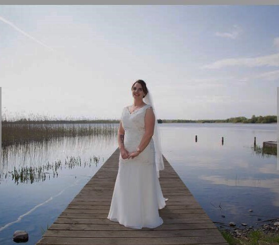 Beautiful Christina in her Alexia Gown