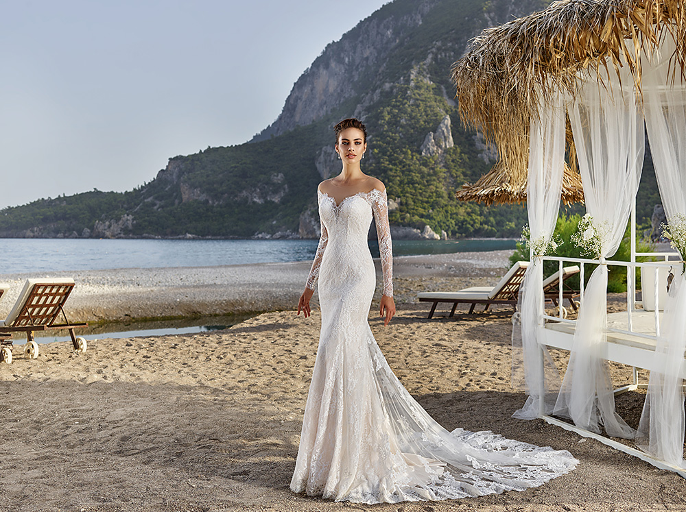 892623ef61ca0 Eddy K Bali | Chantilly Lace | Long Sleeve Fitted Gown | On Sale